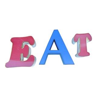 Vintage EAT Letters - Set of 3