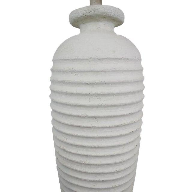 White Plaster Floor Lamp Chairish