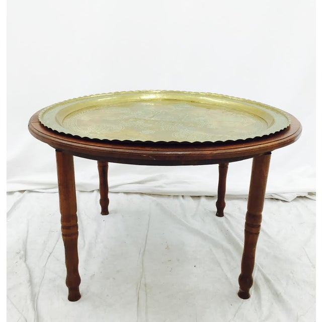 Antique Coffee Tables Ireland: Vintage Brass Tray Top Coffee Table