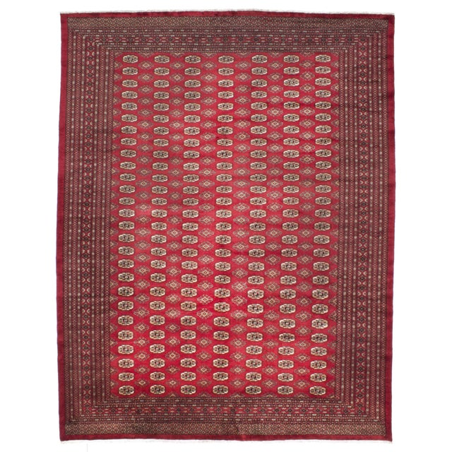 "Image of Red Finest Peshawar Bokhara Rug - 8'6"" X 10'8"""