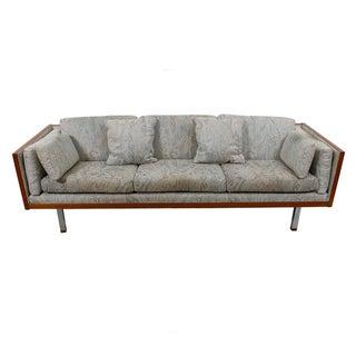 Milo Baughman Style Teak Case Sofa by Jydsk, Denmark
