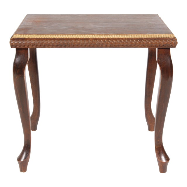 Image of Queen Anne 1920s Gilt End Table