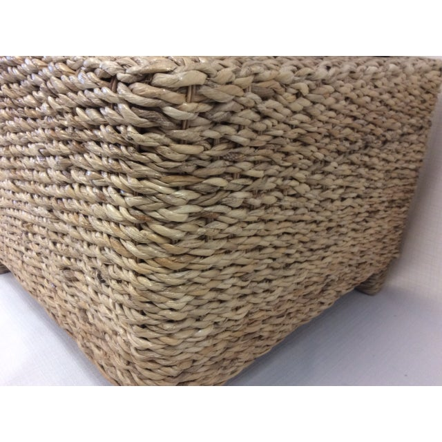Handmade Woven Stool Mimbre Brown - Image 8 of 9