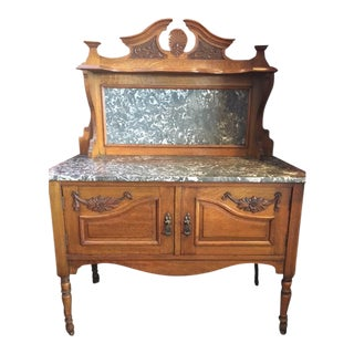 Antique Marble-Top Dry Sink