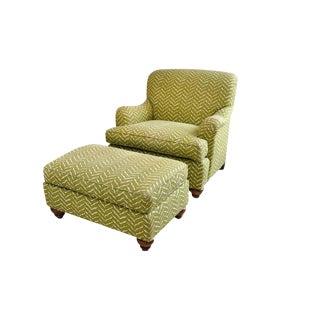 Ethan Allen Club Chair & Ottoman
