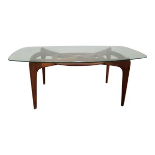 """Adrian Pearsall Mid Century Sculptural Elongated """"Compass"""" Dining Table"""