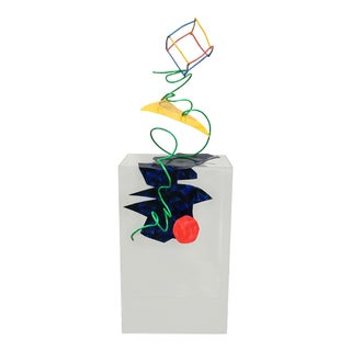 Ron Tatro Scribble Sculpture on Lucite Pedestal