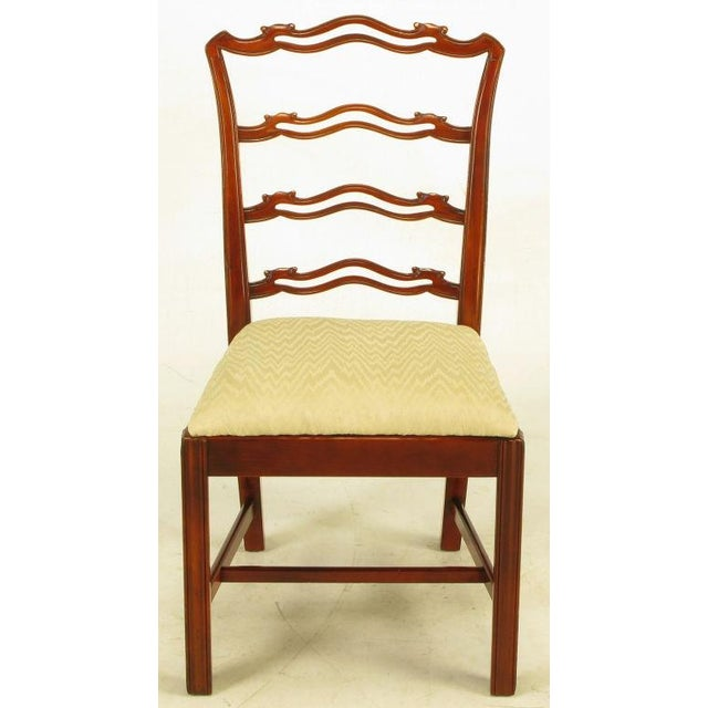 Six Ribbon Back Chippendale Dining Chairs - Image 4 of 10