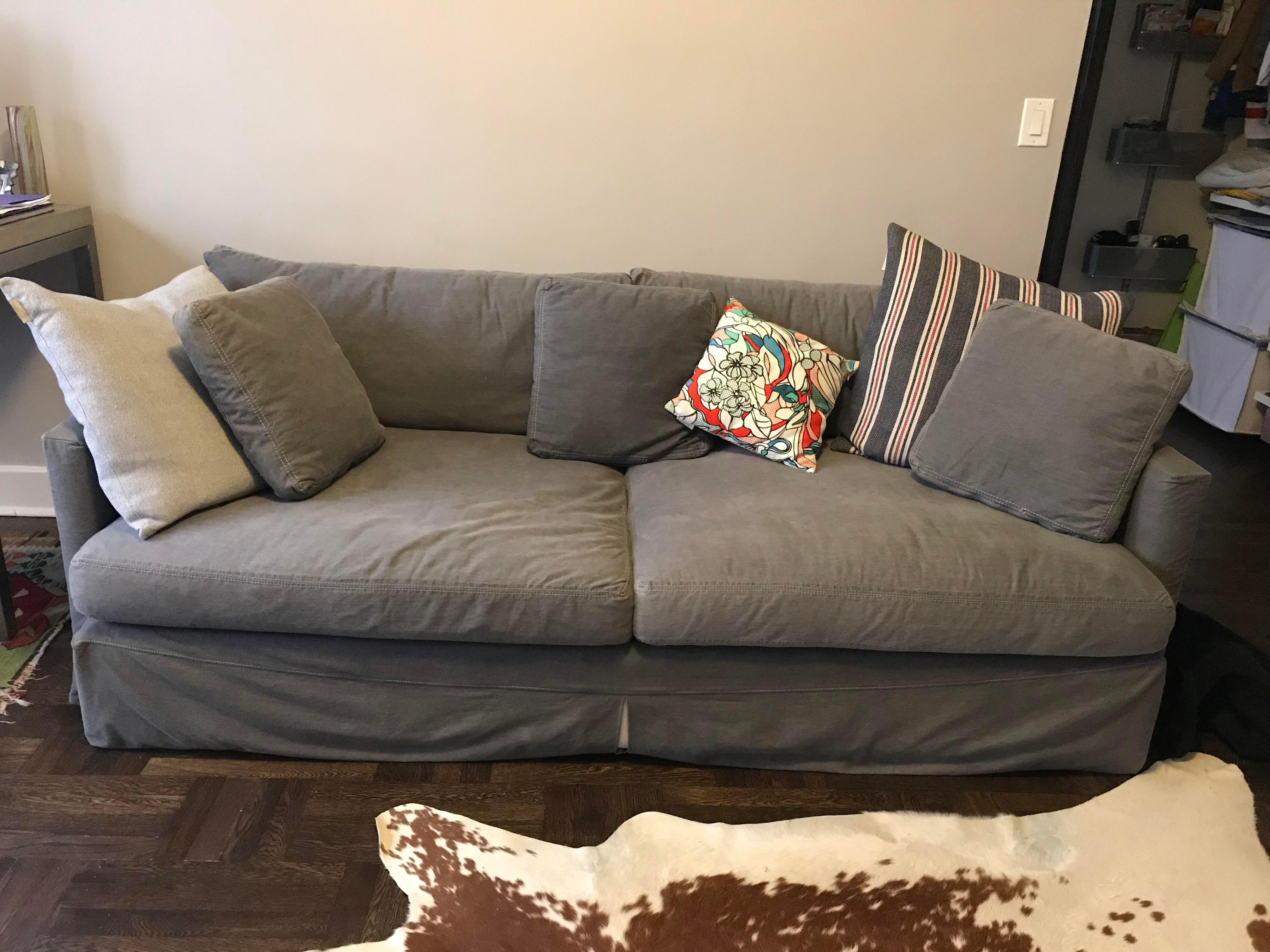 Crate U0026 Barrel Lounge Sofa With Washable Slipcovers   Image 2 ...
