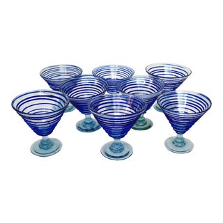 Mexican Glass Coupes - Set of 8