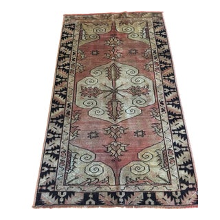 "Antique Anatolian Turkish Mihri Rug - 3'5"" x 5'8"""