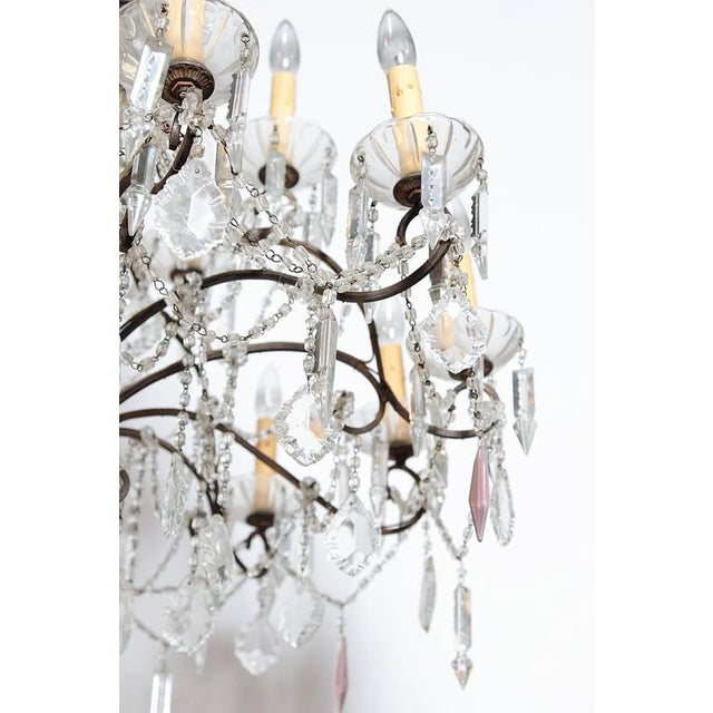 19th Century Italian 18-Light Crystal Chandelier - Image 8 of 10