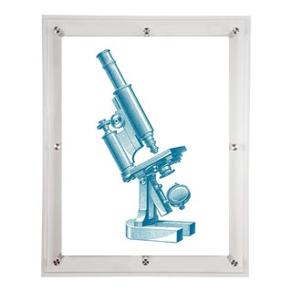 Mitchell Black Home Acrylic Framed Microscope Art Print