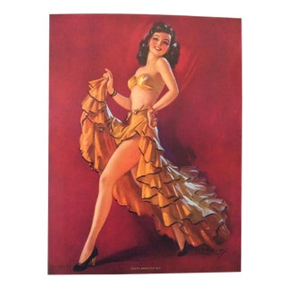 1940's Jules Erbit South American Way Pin Up Print