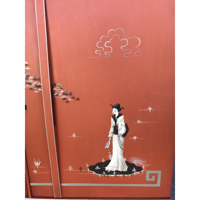 Vintage Chinoiserie Bar Cabinet - Image 6 of 11