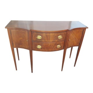 Federal Style Mahogany Bow Front Sideboard