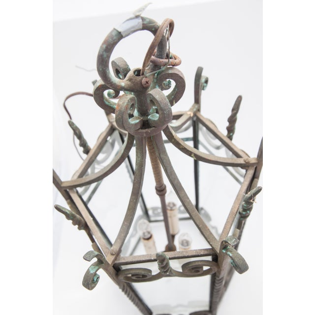 Six-Sided Iron Lantern - Image 4 of 9
