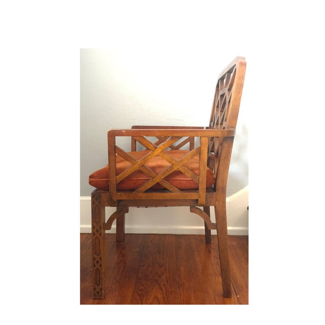 Image of Mid-Century Chinese Chippendale Armchairs - A Pair
