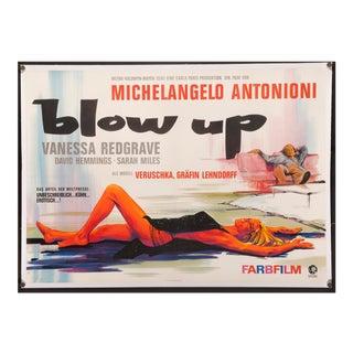 "1967 Vintage MIchelangelo Antonioni's ""Blow Up"" German Film Poster"