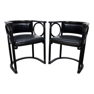 Black Josef Hoffman Fledermaus Chairs - Set of 3