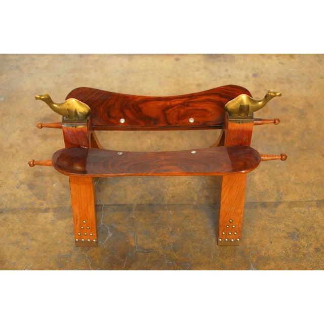 Egyptian Camel Saddle Stool Chairish