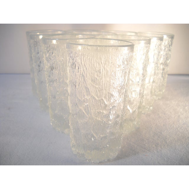 Danish Modern Ice-Textured Glasses - Set of 10 - Image 3 of 8