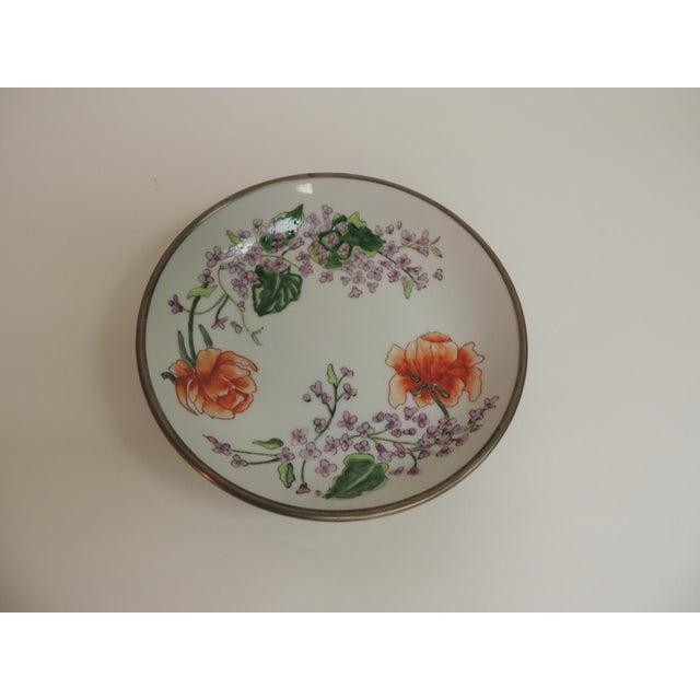 Vintage Japanese Imari Porcelain Enameled Metal Plate - Image 2 of 4