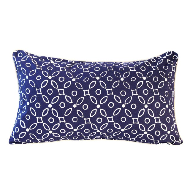 "Handmade ""Indigo Kawung"" Batik Pillow - Image 1 of 4"