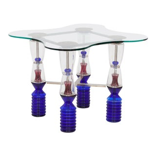 One-of-a-Kind Van Praet & Val Saint Lambert Crystal Gaming Table