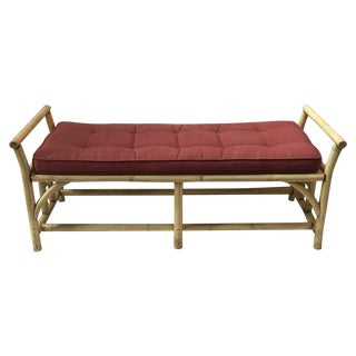 Vintage Rattan Bench