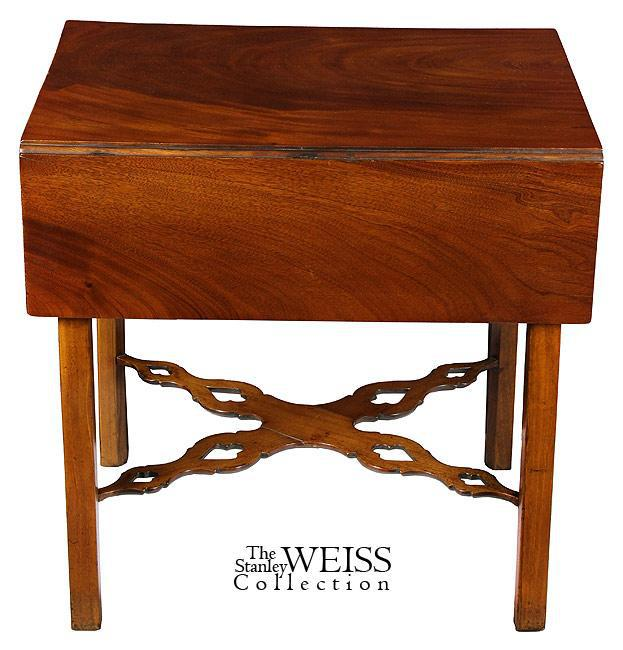 Mahogany Chippendale Pembroke Table With Pierced Stretchers   Image 4 Of 8