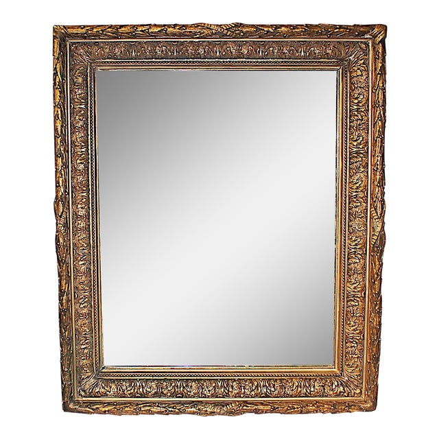 Antique Gilt Gesso Mirror - Image 1 of 7