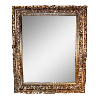 Antique Gilt Gesso Mirror