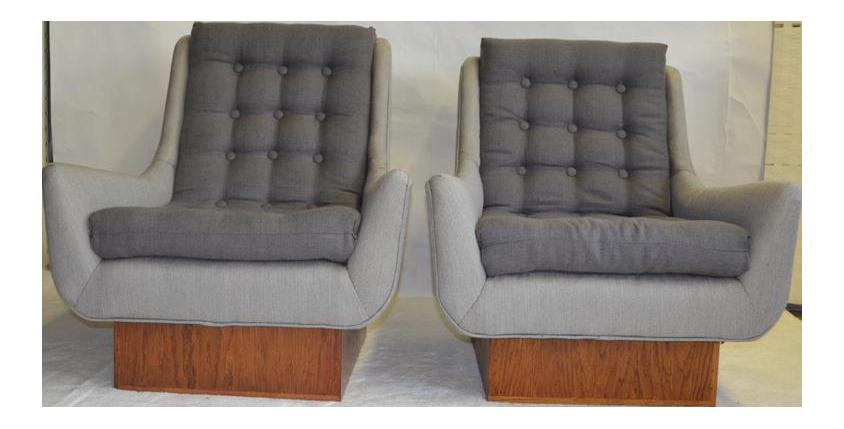 Mid Century Modern Arm Chairs   A Pair