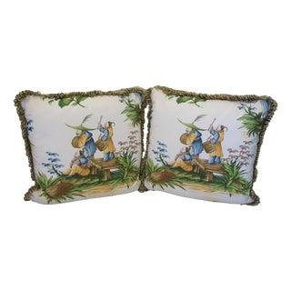 Brunschwig El Mandarin Custom Pillows - a Pair