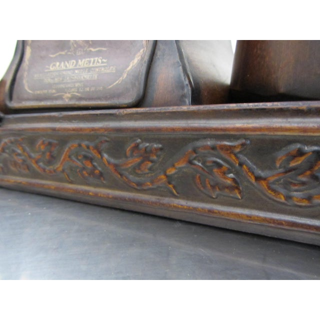 Decorative French Metal Tray & 3 Canisters - Image 7 of 9
