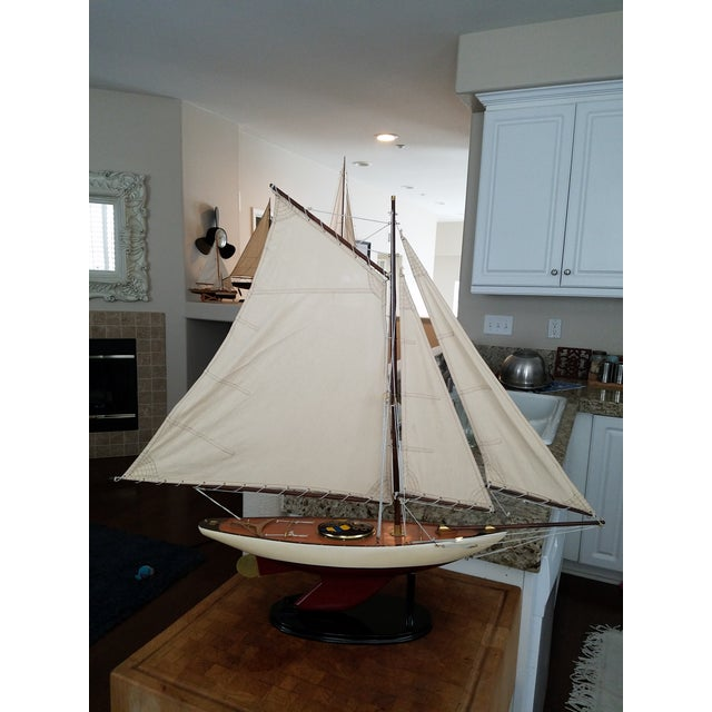 1923 Antique Sailboat Model - Image 3 of 6