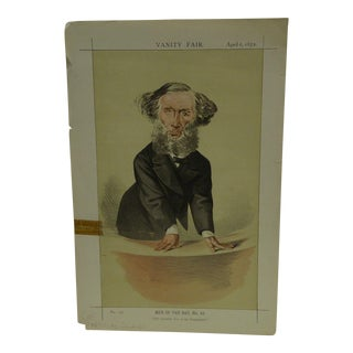April 6, 1872 Men of the Day No. 43 The Scientific Use of Imagination Vanity Fair Print
