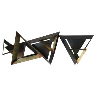 C Jere Large Diemetric Triangular Sculpture