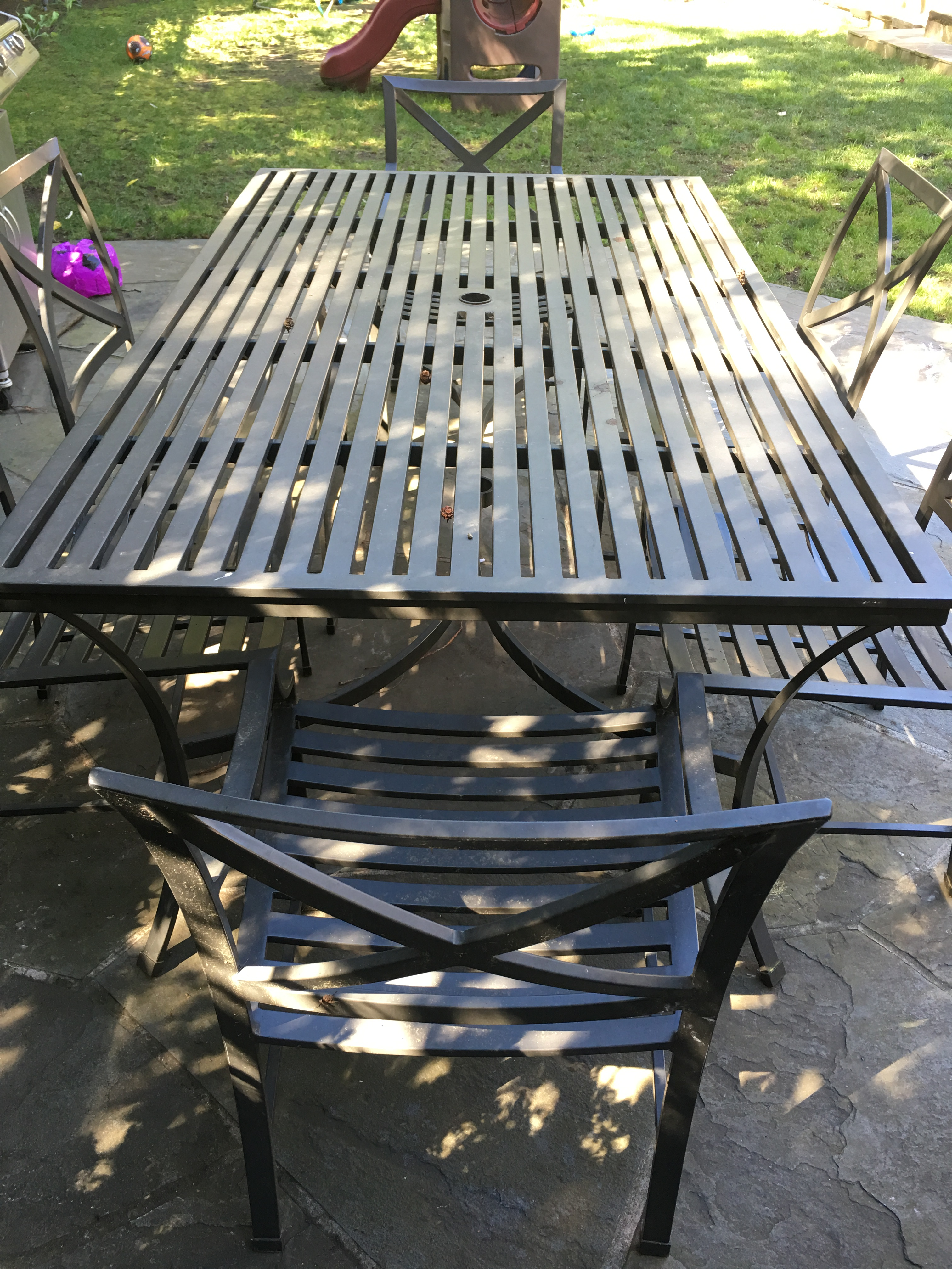 restoration hardware outdoor dining set image