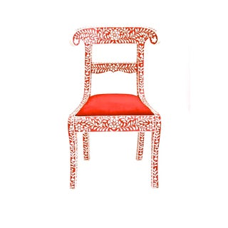Red Bone Inlay Chair