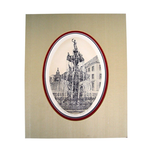 Image of Court Square Fountain Lithograph