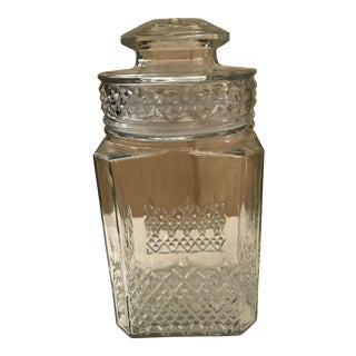 Vintage Square Canister Jar
