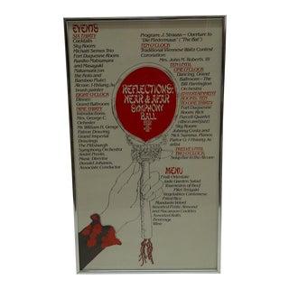 "1979 Vintage ""Reflections Near & Afar"" Symphony Ball Poster"