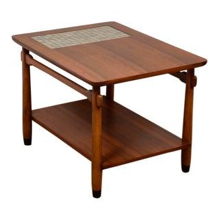 Lane Walnut & Tile End Table