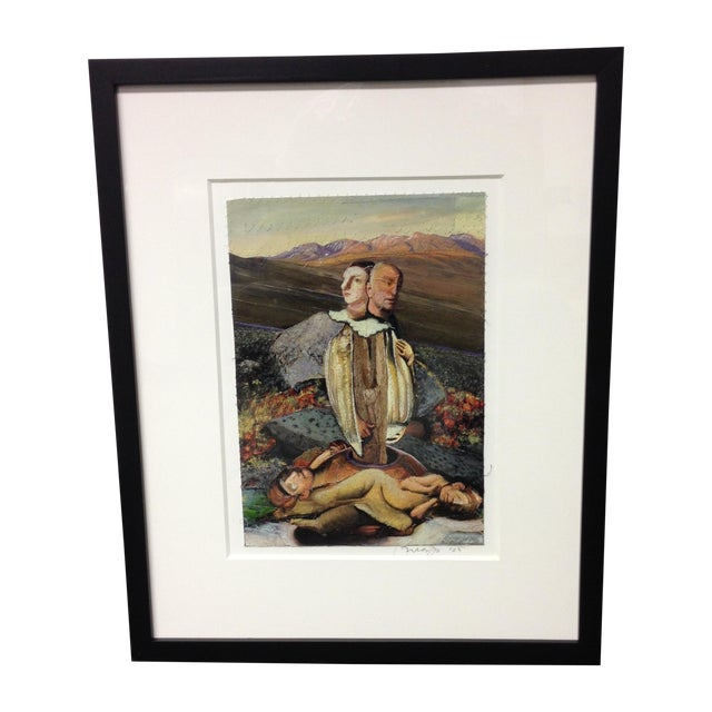 "Image of Original Michael Madzo Signed ""Emerging Couple"""