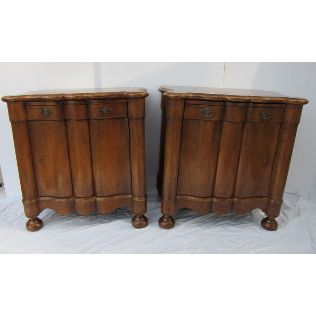 Image of Italian Style Wood End Tables - A Pair