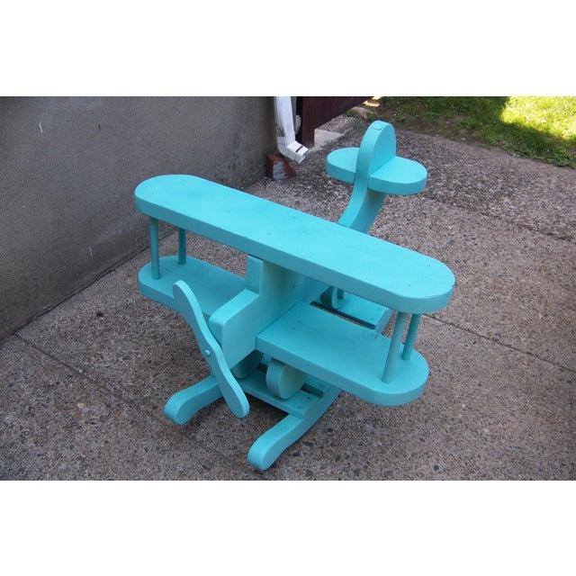 turquoise kids chair turquoise life size kids airplane rocker chair chairish
