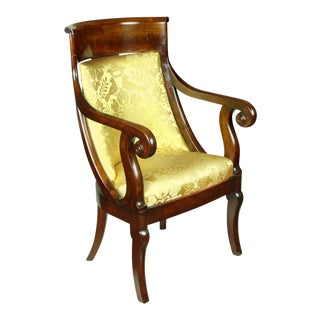 Classical Mahogany Armchair in the French Restoration Taste