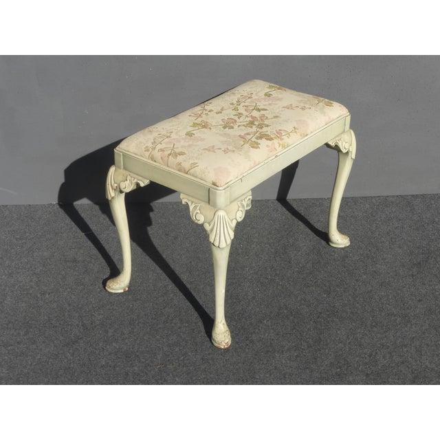 Vintage Queen Anne Piano Vanity Bench - Image 11 of 11